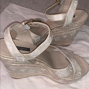 Barely worn Louis Vuitton Wedges